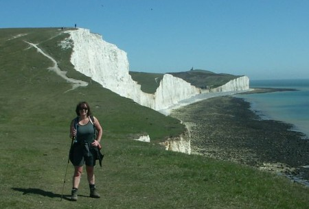 above Cuckmere Haven looking towards the Seven Sisters
